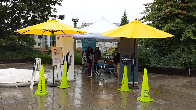 Happiness Project at the UBC Ripple Effect Sustainability Campaign Photo Credit: Sumeyye Cakal