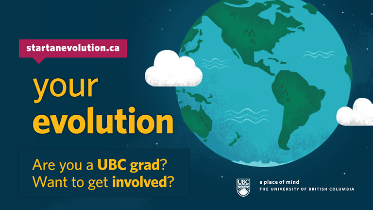 Your Evolution Campaign Photo Credit: UBC Development and Alumni Engagement